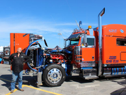 Roger Nelson's 2013 Peterbilt 389 - She Thinks My Tractor's Sexy, Trucker's Choice winner.