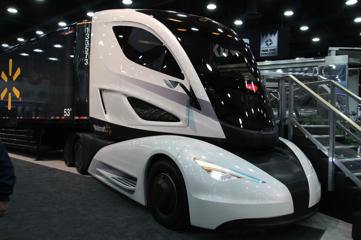 The Advanced Vehicle Experience Is A Concept Tractor Trailer Combination That Features