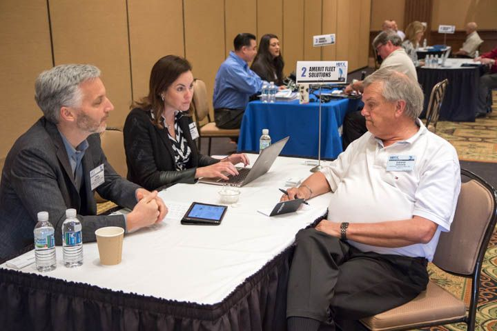 One-on-one meetings between fleets and suppliers helped build relationships.