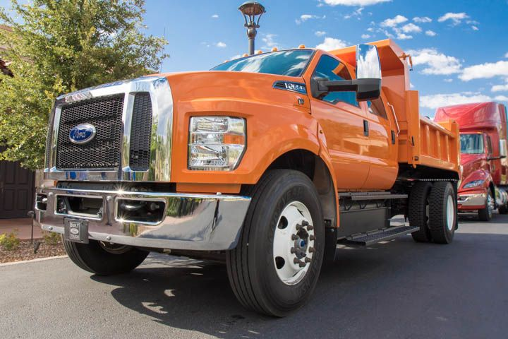 Ford showcased a 2016 F-650 dump truck at HDTX in Phoenix. Fleet executives who test-drove the...