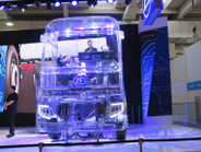ZF fabricated a plastic see-through truck for a virtual-reality demo of its advanced...