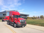 An International ProStar prior to beginning the Pit Group-US Xpress fuel run earlier this week.