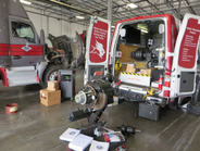 The Meritor training van brings hands-on training to various locations across the United States...