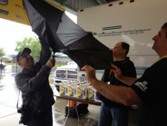 SuperRigs organizers battled rainy weather and a glitch with the judging software on the first...
