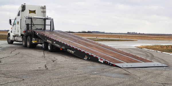 Landoll Teams up With Air-Weigh on Anniversary Lowboy Trailer