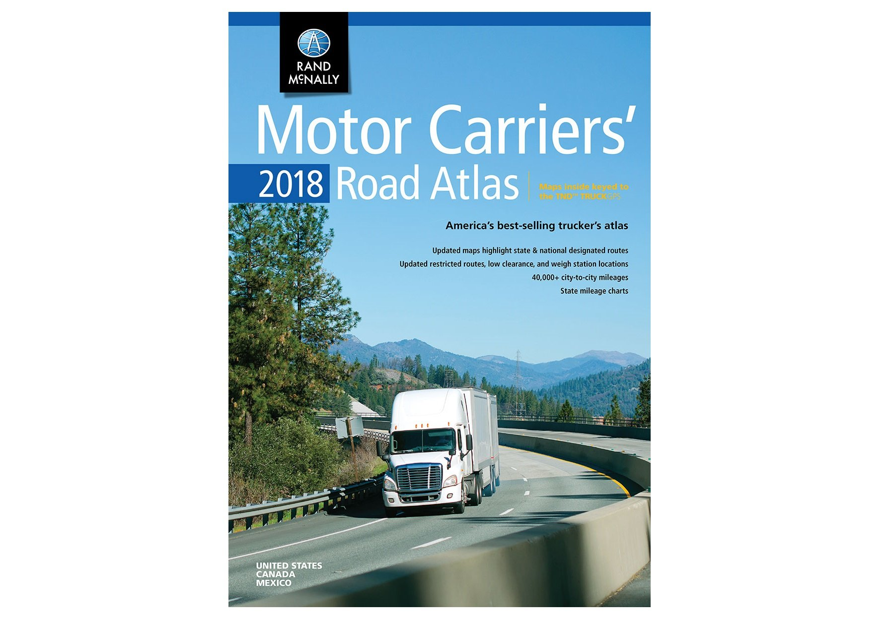 Rand Mcnally Updates Motor Carriers Road Atlas Drivers Trucking