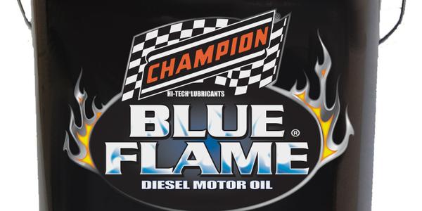 Champion Launches Blue Flame SAE 5W-30 API CJ-4 Diesel Motor Oil