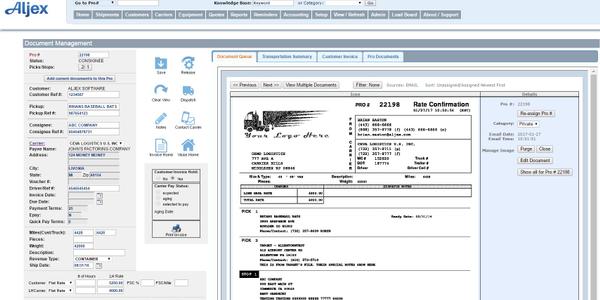 Aljex App Facilitates Inbound Documents
