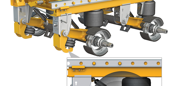 SAF CBX40 Tandem Axle Slider Suspensions with Auto-PosiLift technology will be available from...