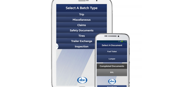 EBE Develops New Mobile Software for Driver Paperwork