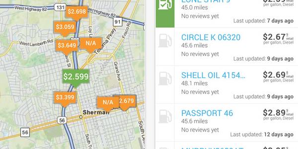 FleetAdvance App Finds Low Fuel Prices