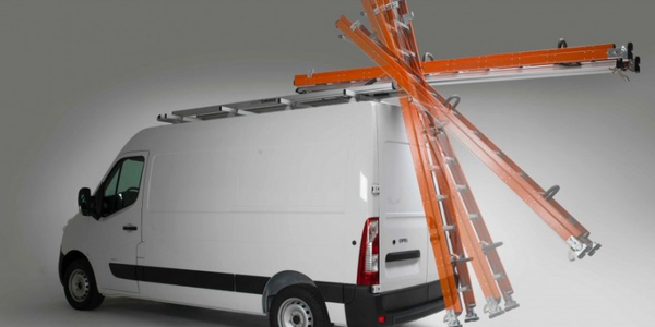 Ladder Rack Fits High- and Low-Roof Vans