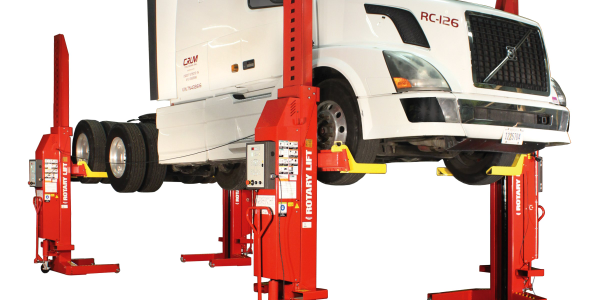 MCH413 Mobile Column Lift Offers Smaller Package for Fleets, Independent Shops
