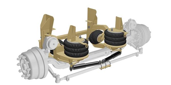 Ridewell Updates Self-Steer Suspension for I-Beam Axle Integration