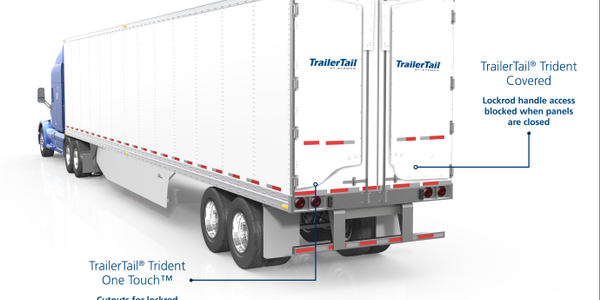 When undeployed, standard Trailer Tail panel at left allows ready accesstodoor handle. New...