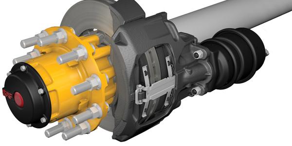 SAF Integral Air Disc Brake Axle System