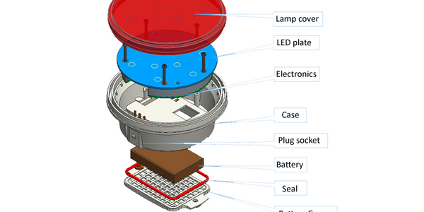 Tracking Device Hides in a Tail Lamp