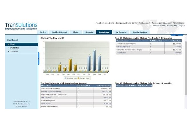 Carrier Claim Management System Replaces Spreadsheets