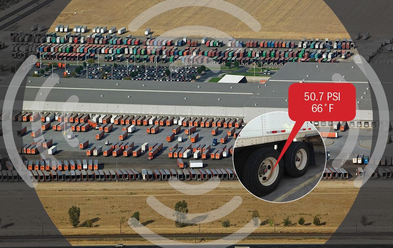 Doran Tpms Checks Trailer Tire Pressure In The Yard