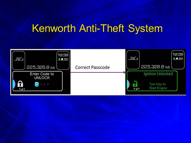 Kenworth Anti-Theft Available on T680 and T880