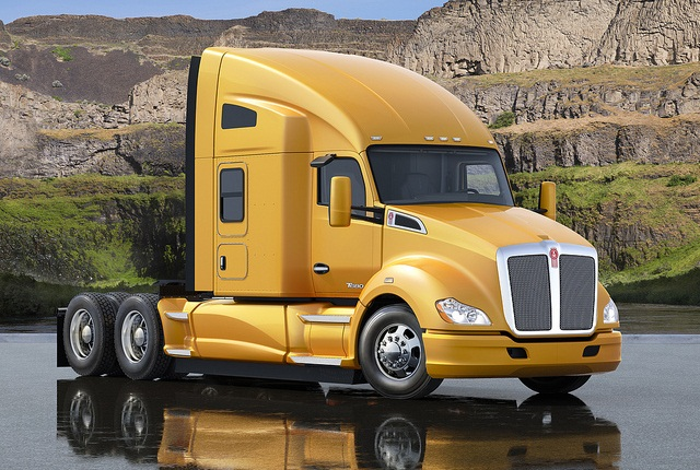 <p>Pictured is the T680 76-inch Sleeper.</p>