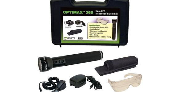 Optimax 365 Uses UV Light for Leak Detection