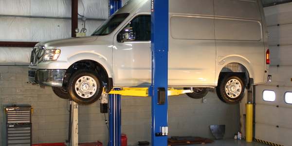 Two Post Lift Made For High Roof Vans