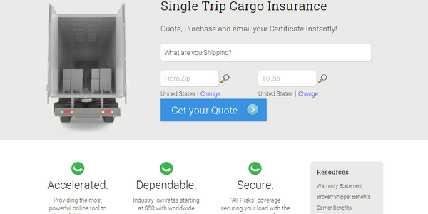 TripCargo 'All Risks' Insurance Available Online