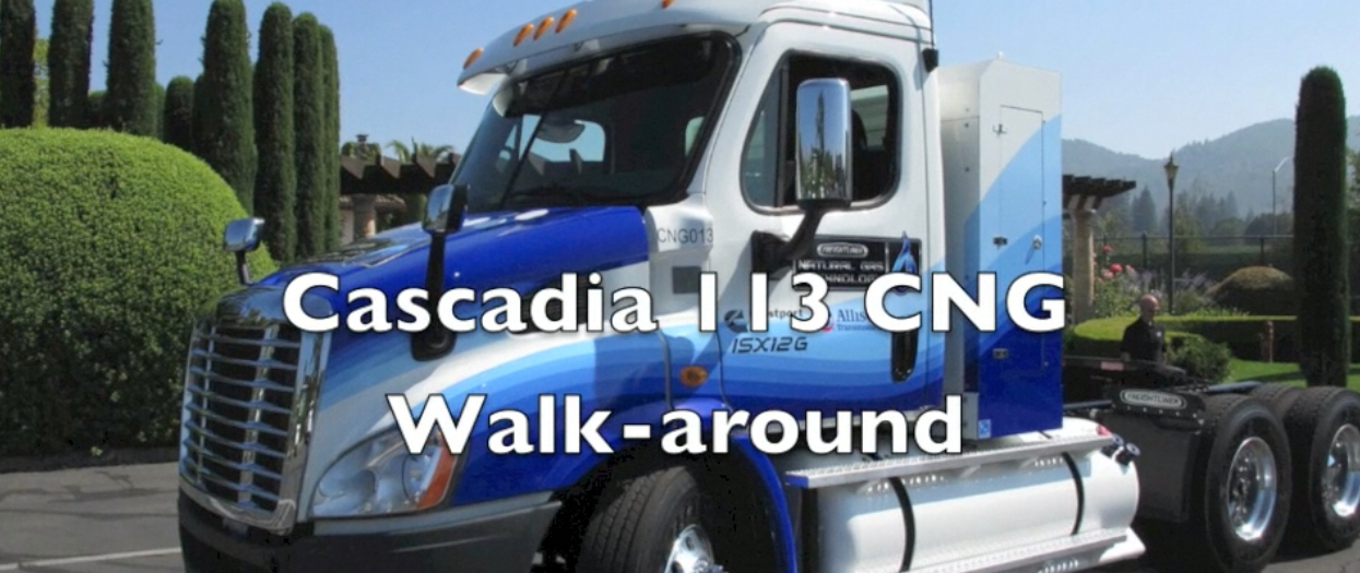 Freightliner Cascadia 113 Compressed Natural Gas Tractor Walk-around