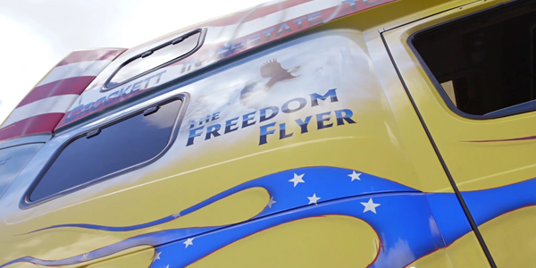 Video: Driver Shows Off Patriotic Volvo Truck