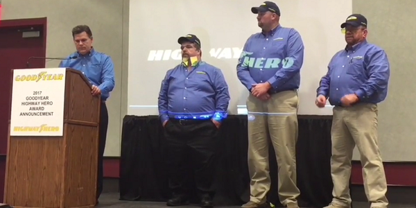 On the Spot: 34th Goodyear Highway Hero Honoree [Video]