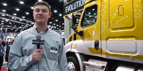 Freightliner Cascadia 113 Natural Gas Tractor at MATS 2014