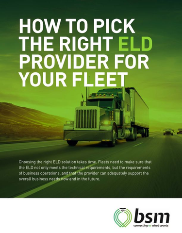 How to Pick the Right ELD Provider for Your Fleet