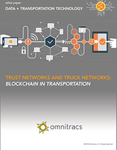 Trust Networks & Truck Networks: Blockchain in Transportation
