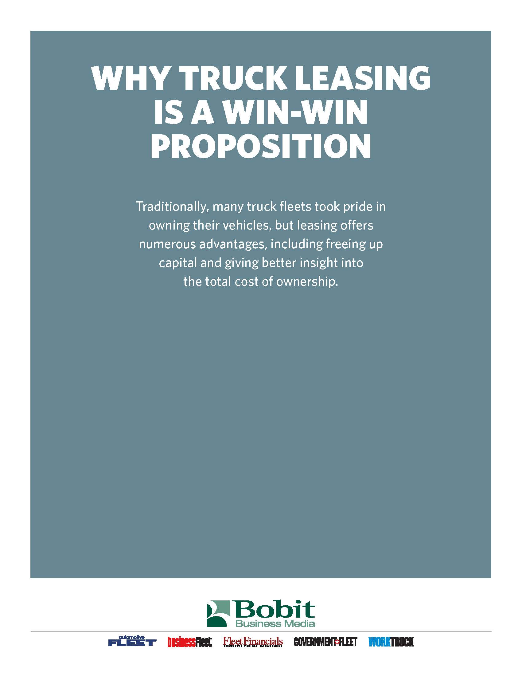 A Win-Win Proposition
