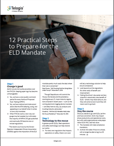 12 Practical Steps to Prepare for the ELD Mandate