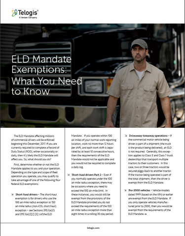 ELD Mandate Exemptions: What You Need to Know