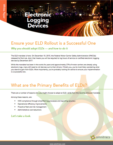 Ensure Your ELD Rollout is Successful