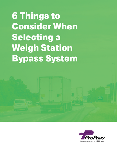 6 Things to Consider When Selecting a Weigh Station Bypass System