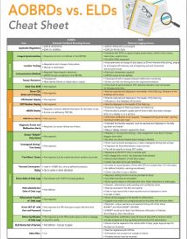 AOBRDs vs. ELDs Cheat Sheet