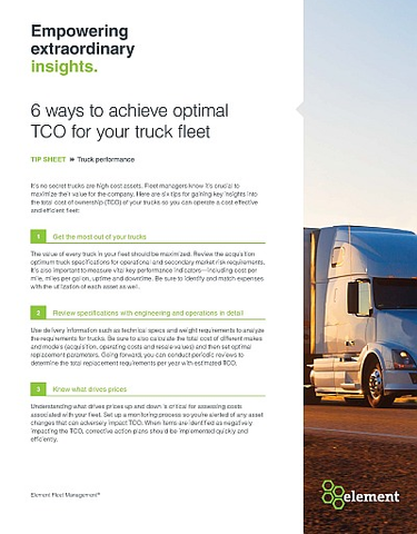 Achieving optimal truck TCO for your fleet