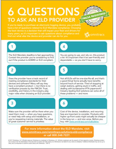 Six Questions to ask ELD Provider