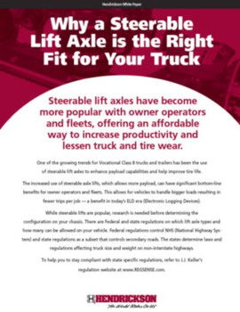 Why a Steerable Lift Axle is the Right Fit for Your Truck