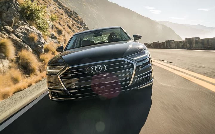 Sales of the Audi A8 improved by 50% year-over-year last month, helping to propel the German factory to 20,618 U.S. new-car deliveries, a new November high. - Photo courtesy of Audi USA.