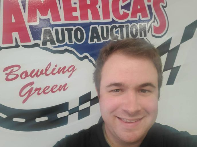 New fleet/lease manager Jordan Clark Clark started in 2011 as a part-time clerk charged with scanning titles. After just two weeks, he was urged take on a full-time post as a CR writer. - Photo: America's Auto Auction Bowling Green