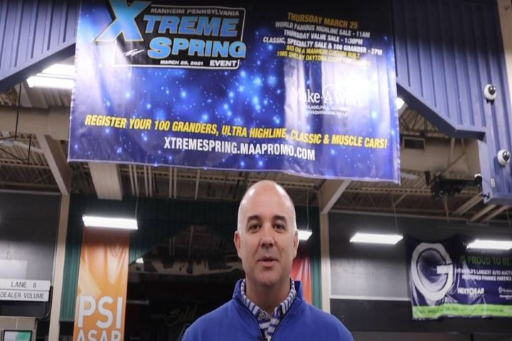 Manheim Pennsylvania's Vice President and General Manager Joey Hughes promoted the March 25 event and auction in a video. - Photo: Manheim Pennsylvania video