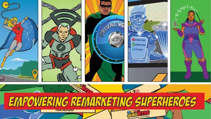 AutoIMS uses an array of superheroes to promote its quarterly Industry View report. - Graphic: AutoIMS