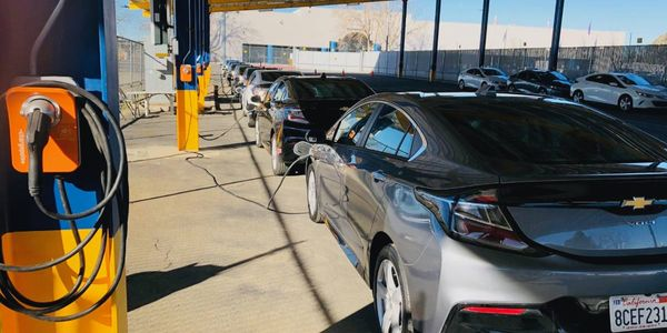 This solar carport at a Manheim faciltiy in the San Francisco Bay region is part of the auction...