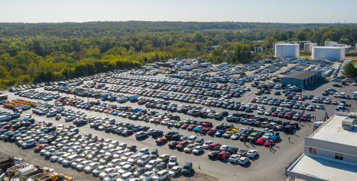 The lot at Richmond Auto Auction's 29th anniversary sale, held on Sept. 20, had more than 900 vehicles of all makes and models.  - Photo courtesy of Richmond Auto Auction.