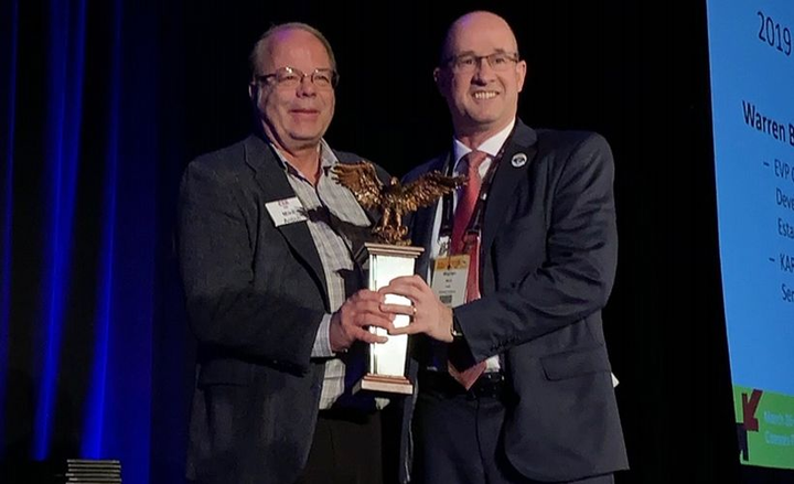 Warren Byrd, executive vice president of corporate development and real estate of KAR Auction Services, received the 2019 Remarketer of the Year award.